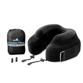 【CABEAU】旅行用記憶頸枕 (黑色) 飛機枕-行動