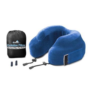 【CABEAU】旅行用記憶頸枕 (藍色) 飛機枕-行動