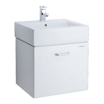 【HCG】浴櫃系列-LCS400臉盆浴櫃(含龍頭) LF4115N龍頭