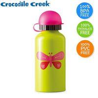 【美國Crocodile Creek】環保兒童不鏽鋼水瓶(蝴蝶)-行動