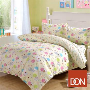 DON可愛熊仔 加大四件式純棉兩用被床包組