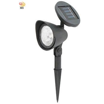 月陽可調太陽能充電式自動光控開關3LED庭園燈草坪燈插地燈(5011)