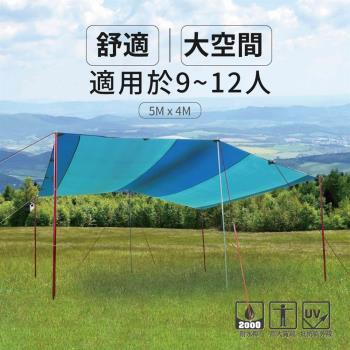【OutdoorBase】大草原天幕炊事帳-OB21287  客廳 寢室 露營 野餐 戶外派對