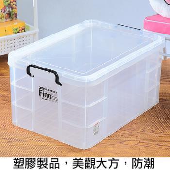 【將將好收納】強固型掀蓋整理箱-65L(2入組)