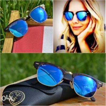 【Ray Ban雷朋】RB3016-114517-51復古眉框太陽眼鏡(#水銀藍鏡面-大版)