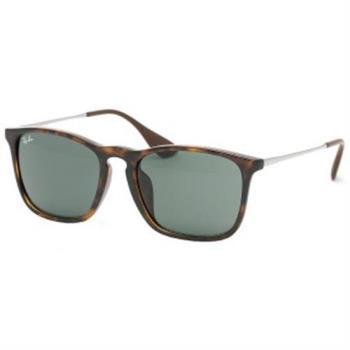 【Ray Ban雷朋】4187F-710/71太陽眼鏡-亞洲加高鼻墊款(#琥珀框-綠鏡面)
