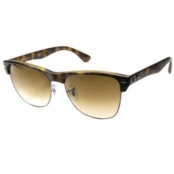 【Ray Ban雷朋】4175-878/51 Clubmaster Oversized 眉框太陽眼鏡(#琥珀棕鏡面)