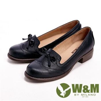 【W&M】日系可愛學院風休閒女鞋-黑(另有咖)