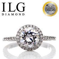 ILG鑽頂級頂級八心八箭擬真鑽石戒指-主鑽1.25克拉-法國巴黎名款 RI096 求婚款小資女