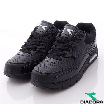 DIADORA義大利國寶鞋-透氣輕量慢跑鞋經典款-WC2880黑(女段)(23.5cm-25cm)-行動