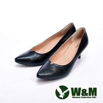 【W&M】 高質感經典女高跟鞋-黑(另有米)