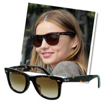 【Ray-Ban雷朋】2140F-902/51-52-專為亞洲人設計太陽眼鏡(#琥珀框棕鏡面-小版)