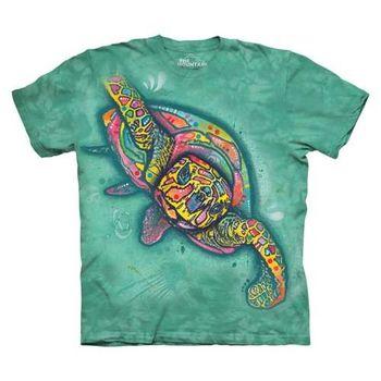 【摩達客】(預購)美國進口The Mountain 彩繪海龜 純棉環保短袖T恤