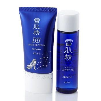 KOSE高絲 防護淨白BB霜 30g SPF40 PA+++ 送淨透潔顏油35ml