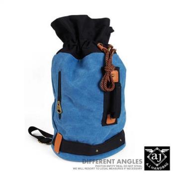 【AJ.亞介】 韓版 多功能束口 帆布拳擊包 單肩包 後背包 6色 (UE8801)