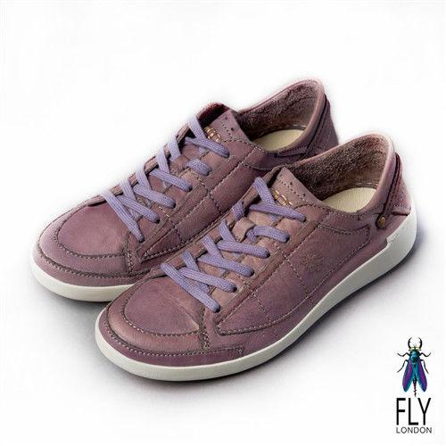 Fly London(女) 哲學之思 手染自然色系綁帶休閒鞋 - 薰紫