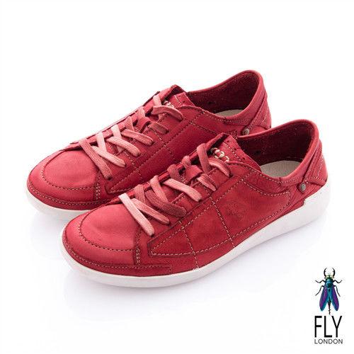 Fly London(女) 哲學之思 手染自然色系綁帶休閒鞋 - 楓紅