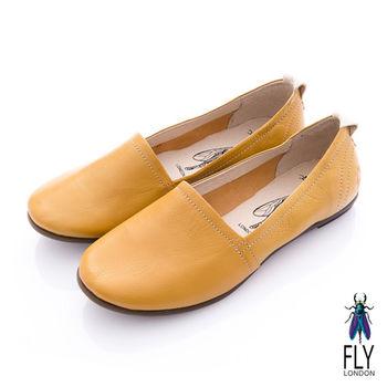 Fly London(女) 清麗佳人 三角包楦舒適單色休閒鞋 - 蜜黃