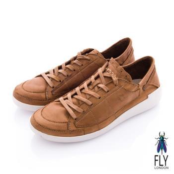 Fly London(男) 哲學之思 手染自然色系綁帶休閒鞋 - 咖啡