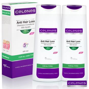 CELENES夏琳絲-有機成分活氧全效洗髮露 2入組