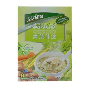 活力百匯 青蔬什錦糙米粥5盒(6包/盒)