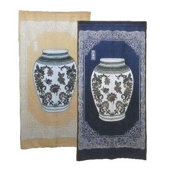 寶瓶針織長門簾-藍/黃二入任組166x88cm(YSJ868)