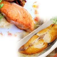 [賣魚的家] 阿拉斯加鮭魚切片20片(100g/片) + 印尼土魠魚切片20片 (100g/片)