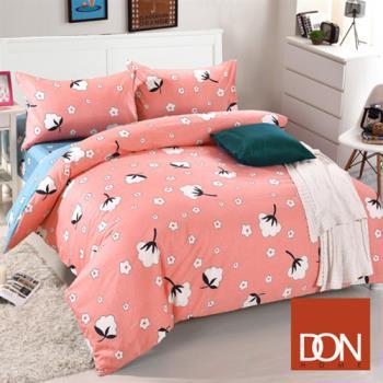 DON 幸福棉田 加大四件式純棉兩用被床包組