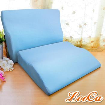 LooCa 吸濕排汗專利護肩柔頸枕-1入 送防蹣防蚊枕套