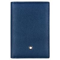 MONTBLANC 萬寶龍十字紋豪華型名片夾-藍 113225