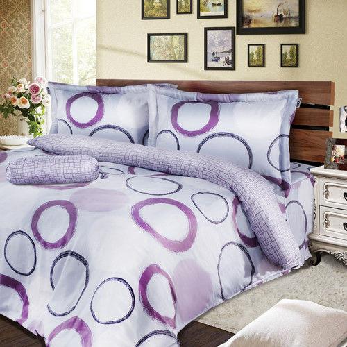 夢工場 映象精采天絲五件式中式寢具組-雙人