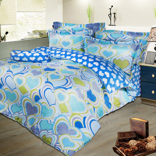 夢工場 心悅欣悅天絲五件式中式寢具組-雙人