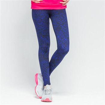 【美國 AIRWALK】吸排運動緊身長褲-女 -寶藍