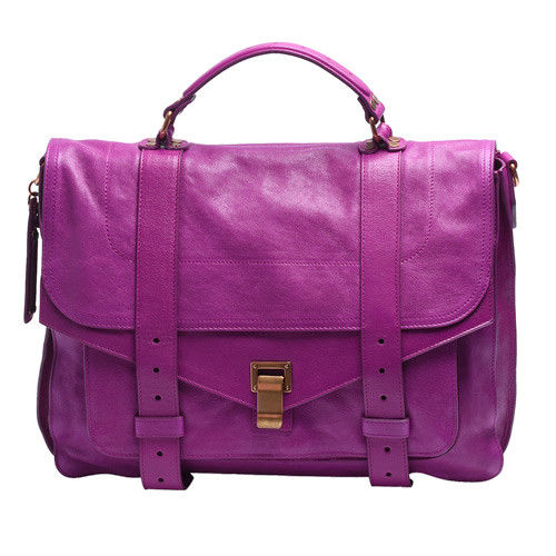 Proenza Schouler PS1 Large D1山羊皮手提斜背包(大-紫羅蘭-展示品)