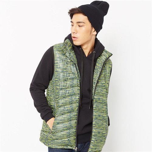 【美國 AIRWALK】時尚立領鋪棉背心-男 -黃