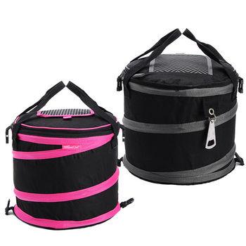 【買達人】大容量圓筒野餐籃(加碼贈折疊水壺 20L)