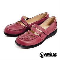 【W&M】可調節式帶環淑女鞋-紅