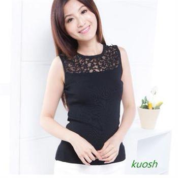 【kuosh】蕾絲拚接無袖上衣(NS-6110)