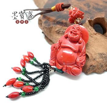 【墨寶齋製筆莊】紅珊瑚佛像掛飾(觀音/彌勒佛/釋迦牟尼)