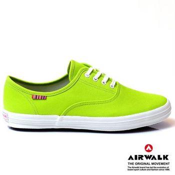 AIRWALK繽紛馬卡龍純棉帆布鞋-女-青蘋綠