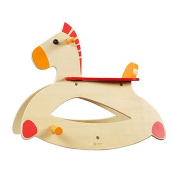 Classic world 德國經典木玩 客來喜 原木搖搖馬 幼兒 騎乘玩具