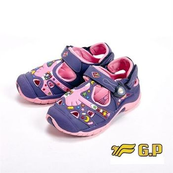 【G.P】快樂護趾童涼鞋童鞋-紫(另有藍)