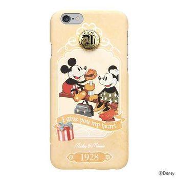 iJacket 迪士尼 iPhone 6/6s 4.7吋 手機殼+化妝鏡 復古系列 豪華套裝組 - 米奇米妮