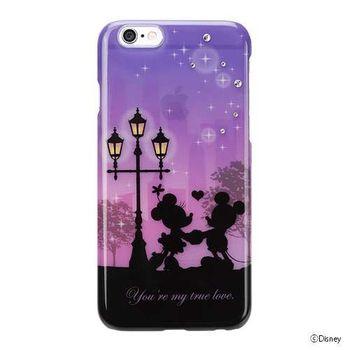 iJacket 迪士尼 iPhone 6/6s 4.7吋 手機殼+化妝鏡 剪影系列 豪華套裝組 - 米奇米妮