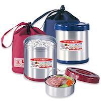 【日本寶馬】0.85L不鏽鋼附提袋真空保溫便當盒 SHW-GL-850