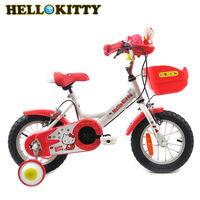 Hello Kitty 12吋單速音樂童車-白紅- K-TY12RD