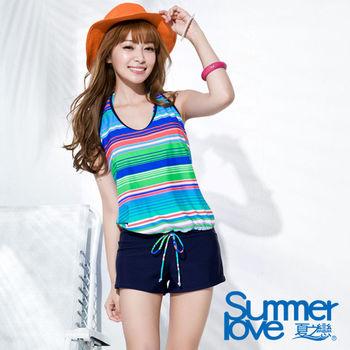【SUMMERLOVE夏之戀】熱情艷夏連身褲三件式泳衣 (S16730)