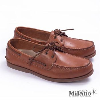 【Rockport】生活休閒舒適經典帆船鞋-棕
