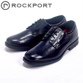 【Rockport】都會雅仕系列/ ESSENTIAL DETAILS 時尚綁帶皮鞋男鞋-黑