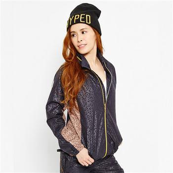 TOP GIRL 羅曼豹紋抗UV輕薄風衣連帽長袖外套-共二色